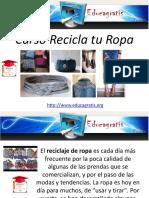 curso  recicla tu ropa