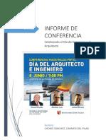 informe conferencia