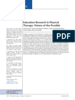 Education Research in Physical Therapy Visions of the Possible