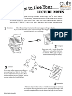 8 ways to use your lecture notes