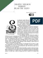 HORATIO NELSON VERSuS BLAS DE  LEZO