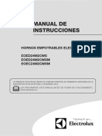 Manual Instrucciones Hornos Electricos ELECTROLUX