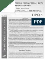 Consulplan 2017 Trf 2 Regiao Analista Judiciario Oficial de Justica Avaliador Federal Prova