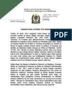 Taarifa Kuhusu zuio la  kuingiza gesi asilia na unga wa ngano nchini Kenya