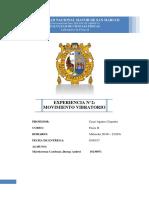 INFORME 2, LABORATORIO FISICA 2 UNMSM
