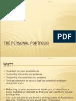 e Fc the Personal Portfolio