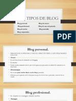 Los Tipos de Blog