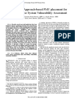 Probabilistic Approach-based PMU Placement for Real-time Power System Vulnerability Assessment