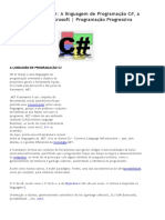 01 - A Linguagem de Programaçao C#
