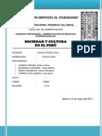 Sociedad y Cultura en El Peru