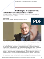 """Carlos Marés_ """"Nenhum Juiz Do Supremo Tem Tanta Independência Quanto O Fachin"""" _ Brasil de Fato"""