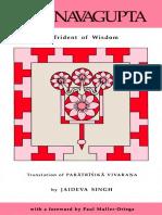 A Trident of Wisdom - Translation of Paratrisika Vivarana - Abhinavagupta & Jaideva Singh.pdf