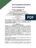 Varías Leyes Referente a Servicios Registrales (Registro de La Propiedad Inmueble y Mercantil)