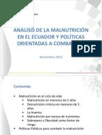 2ecuador Ministra Salud - Analisis de La Malnutricion y Politicas Orientadas a Combatirla