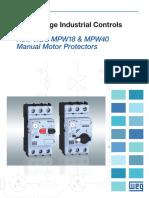WEG Mpw18 Mpw40 Manual Motor Protectors Mmpmpw Brochure English