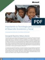 Impulsando La Tecnologia Para Promover El Desarrollo Economico y Social