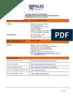 NUS Info Sheet AY1516