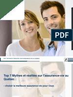 Réfutons les 7 Mythes sur l'assurance vie au Québec