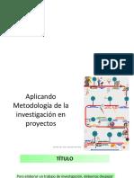 Aplicando Metodología de La Investigación en Proyectos