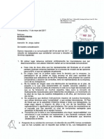 RESPUESTA A CARTA N° 077- 2017