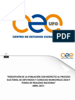 Resultados de Encuesta de  Percepción Política 2017 El Salvador