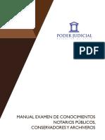 3. Manual Examen Conocimientos Notarios Públicos, Conservadores y Archiveros, Concursos Publicados a Partir Del 14 de Octubre de 2016