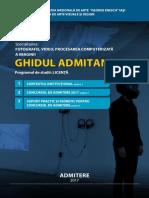 Ghid Admitere Foto Video 2017