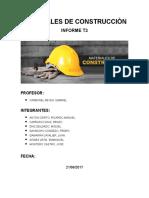 Informe de Materiales de Construccion