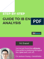 LitLearn Guide to IB English Analysis Standard