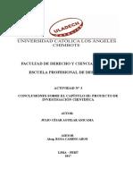 ACTIVIDAD N° 3 CONCLUSIONES DEL CAPÍTULO III PROYECTO DE INVESTIGACIÓN 2017