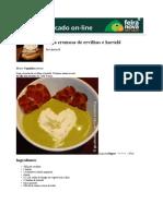 Sopa Cremosa de Ervilhas e Hortelã