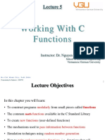 Lecture 5-Working With Functions
