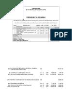 Presupuesto Arroyo El Mamoncillo