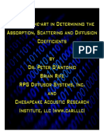 Acoustical Coefficients