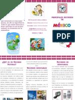 Folleto Recursos Naturales en México