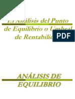 Clase 8 - Analisis Punto de Equilibrio 3parcial 07nov16