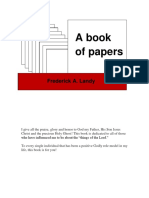 Frederick A. Landy - A Book of Papers