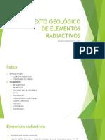 Contexto Geológico de Elementos Radiactivos