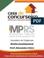 Apostila Mp Rs Secretario de Diligencias Direito Constitucional Alessandra Vieira