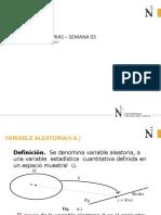 Semana 03B Variable Aleatoria -Distribuciones de Probabilidad