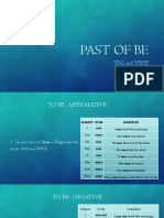 Past of be