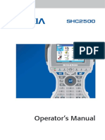 Shc2500 Operators Manual - Aug 2009