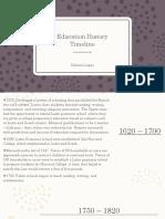 edu  timeline