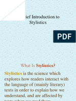 Intro to Stylistics