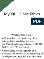 MySQL Clone Tables
