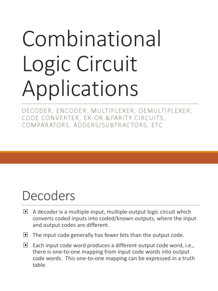 Combinational Logic Circuit Applications1 Subtraction Digital Full Subtractor A Which Is Used For Subtracting Three Electronics