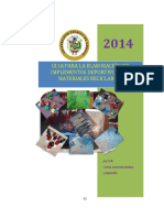 Guia Para La Elaboración de Implementos Deportivos Con Materiales Reciclables