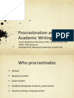 W-4 Cecile Badenhorst - Procrastination and Academic Writing