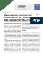 Epixtasis en Paciente Con Pseudoaneurisma Amaxinter