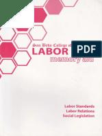 Labor Law San Beda